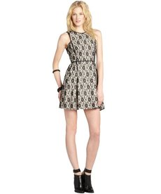 A.B.S. by Allen Schwartz black and ivory sleeveless lace dress