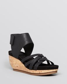 Eileen Fisher Platform Wedge Sandals - Vast