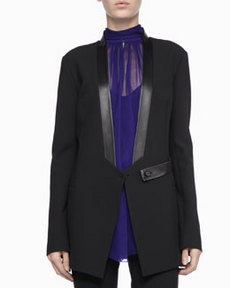 Robert Rodriguez Leather-Trim Tuxedo Jacket