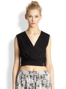 Robert Rodriguez Cropped Wrap Top