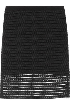 Tibi Astrid cotton-lace pencil skirt