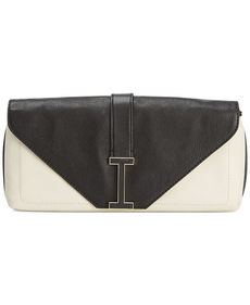 Isaac Mizrahi Pebbled Leather Ingrid Clutch