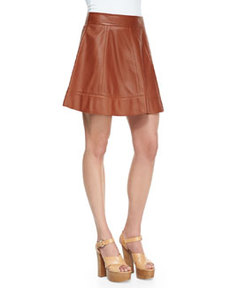 Leather A-Line Skirt   Leather A-Line Skirt