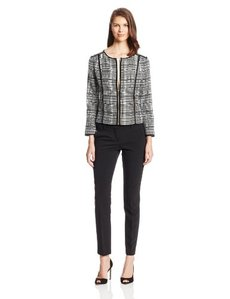 Jones New York Women's Modern Crew-Neck Jacket