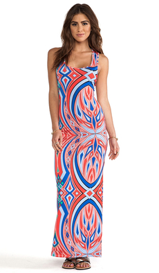 T-Bags LosAngeles Maxi Tank Dress in Pink