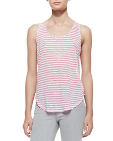J Brand Jeans Shore Stripe Bell Tank Top