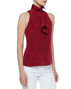 Etro Ruffled High-Neck Blouse