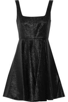 Jill Stuart Kaitlyn metallic-effect wool-blend dress