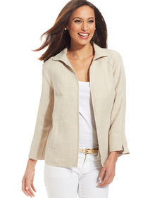 Charter Club Linen Swing Jacket
