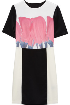 Tibi Printed silk crepe de chine mini dress