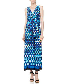 Laundry By Design Geometric-Print Maxi Dress, Blue Beret