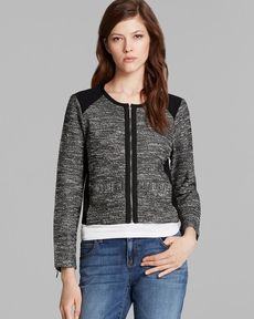Eileen Fisher Short Tweed Jacket