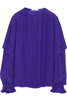 Chloé Ruffled silk-crepe blouse