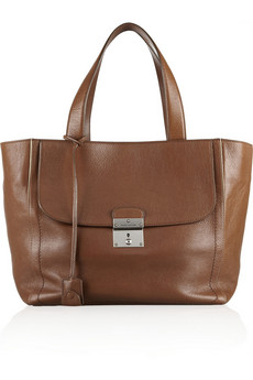 Marc Jacobs Khaki small leather tote