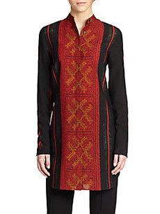 Akris Punto Cross-Stitch Print Tunic