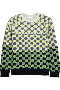 Chloé Neon-embroidered wool sweater