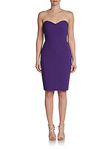 David Meister Strapless Sweetheart Sheath Dress