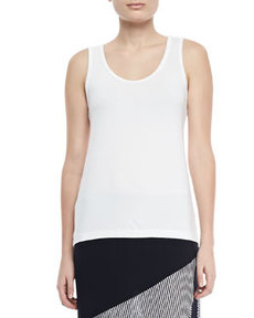 Isda & Co Slim Scoop-Neck Jersey Tank