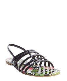 DV by Dolce Vita DV8 black and floral printed 'Arielle' slingback flat sandals