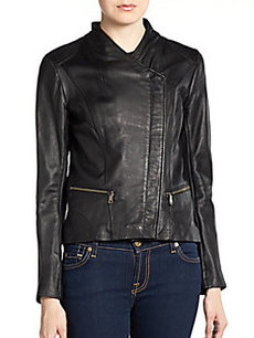 MARC NEW YORK by ANDREW MARC Tess Asymmetrical Zip Leather Jacket