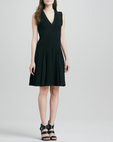 Tracy Reese Fit-and-Flare Dress with Godet Skirt