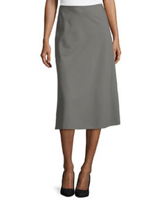 Lafayette 148 New York Nelia A-line Suiting Skirt, Shale