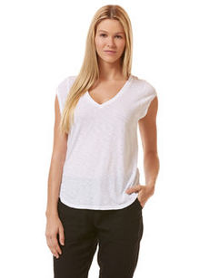 ripple slub v-neck muscle tee