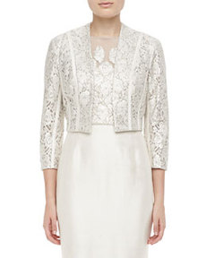 Kay Unger New York 3/4-Sleeve Lace Bolero