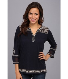 Lucky Brand Kiana Embroidered Tunic