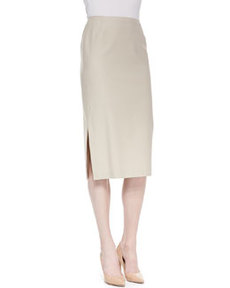 Lafayette 148 New York Dayna Over-the-Knee Skirt with Side Slit