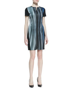 Emory Windswept Front-Zip Dress   Emory Windswept Front-Zip Dress