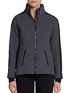 MARC NEW YORK by ANDREW MARC Performance Lace Inset Zip-Front Jacket