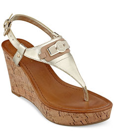 Tommy Hilfiger Women's Monor Platform Wedge Thong Sandals