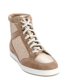 Jimmy Choo brown suede and glitter detail 'Tokyo' sneakers