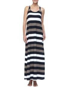 Tommy Bahama Rugby Striped Long Tank Dress