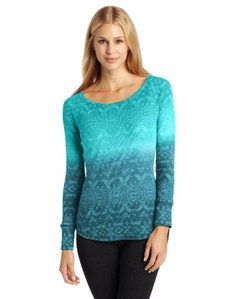 Jockey Women's Nordic Dip-Dye Burnout Scoopneck Tee