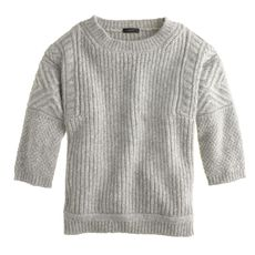 Textured-stitch sweater