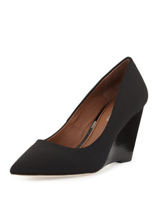 Donald J Pliner Trance Crepe Wedge Pump, Black