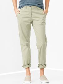 Broken-in straight khakis