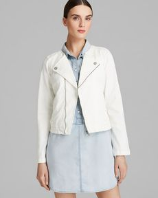 Sanctuary Stretch Twill Moto Jacket