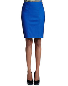 Pique Pencil Skirt, Royal   Pique Pencil Skirt, Royal