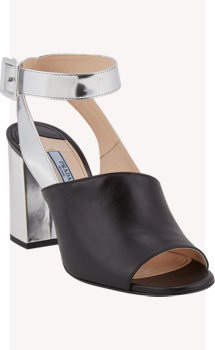 Prada Crisscross Ankle-Strap Sandals