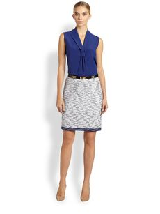 St. John Degrade Honeycomb Knit Skirt