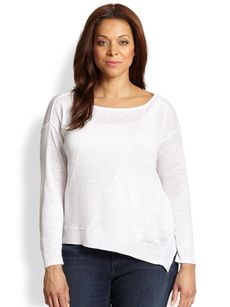 Eileen Fisher, Sizes 14-24 Linen Top