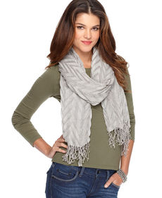 Jones New York Open Weave Pleat Scarf