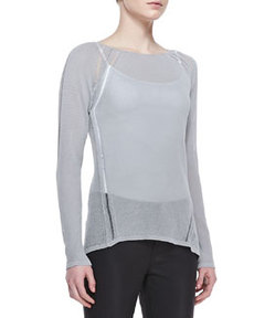 Labria Knit Long-Sleeve Sweater   Labria Knit Long-Sleeve Sweater