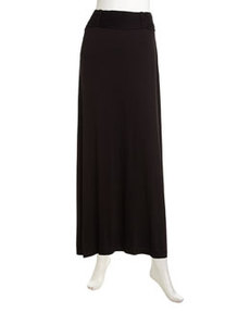 Max Studio Braided Rolled Maxi Skirt, Black