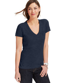 Tommy Hilfiger Short-Sleeve V-Neck Pocket Tee