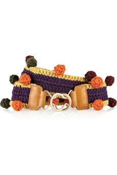 M Missoni Bobble-trimmed stretch-wool belt