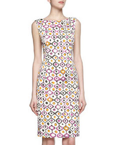 Lafayette 148 New York Print Stretch Dress, Blossom